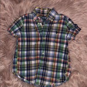 Little boys plaid Ralph Lauren pollo shirt. 3T